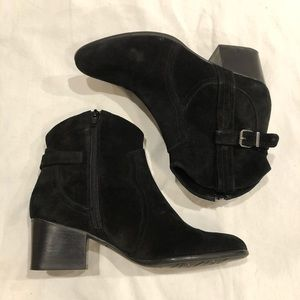 VANELI suede ankle booties with buckle